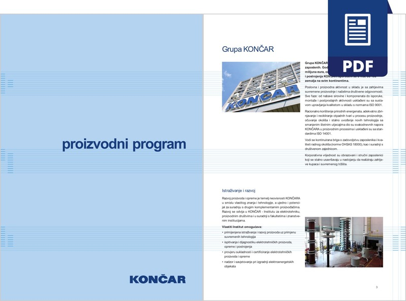 KONČAR - proizvodni program (pdf)