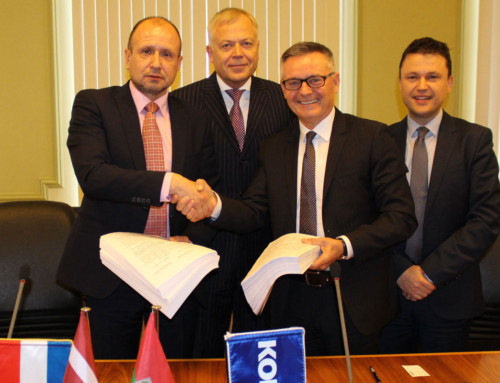 Signed contract for delivery of six tramways to Liepāja city in Latvia