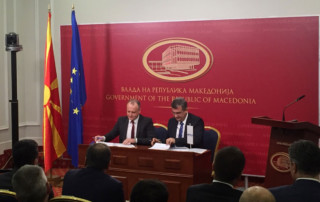 signing of the contracts at the offices of the Macedonian Government
